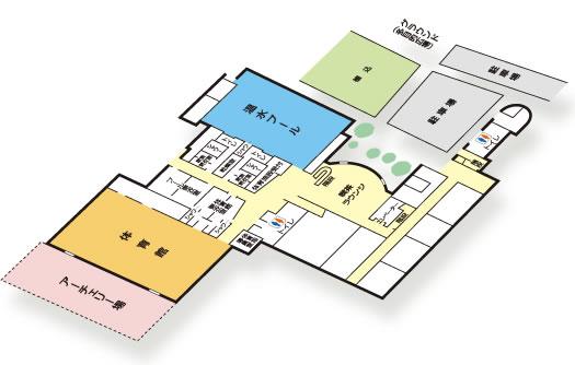 1階のフロア図